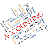 Accounting Word Cloud Concept Angled — Stock Photo