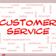 Stock Photo: Customer Service Word Cloud Concept on Whiteboard