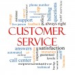 Stock Photo: Customer Service Word Cloud Concept