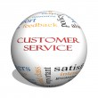 Customer Service 3D sphere Word Cloud Concept — Stock Photo