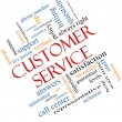 Stock Photo: Customer Service Word Cloud Concept Angled