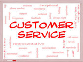 Customer Service Word Cloud Concept on a Whiteboard — Stock Photo