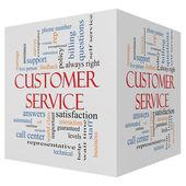 Customer Service 3D cube Word Cloud Concept — Stock Photo
