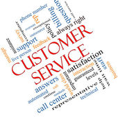 Customer Service Word Cloud Concept Angled — Stock Photo