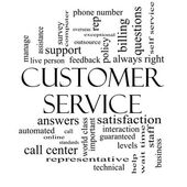 Customer Service Word Cloud Concept in Black and White — Stock Photo