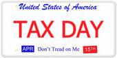 Podatek dzień tablice rejestracyjne — Zdjęcie stockowe