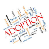 Adoption Word Cloud Concept Angled — Stock Photo