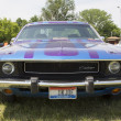 Stock Photo: 1970 Purple Dodge Challenger Front view