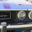 Постер, плакат: 1970 Purple Dodge Challenger headlight