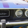 Stock Photo: 1970 Purple Dodge Challenger headlight