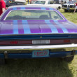 Stock Photo: 1970 Purple Dodge Challenger Rear View