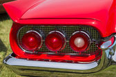1960 Red Ford Thunderbird hardtop convertible tail light — Stock Photo