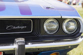 1970 Purple Dodge Challenger headlight — Stock Photo