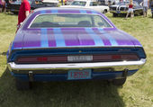 1970 Purple Dodge Challenger Rear View — Stock Photo