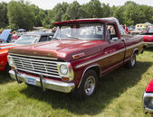 Vintage Red Ford F100 Pickup Truck — Foto Stock