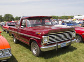 Vintage Red Ford F100 Pickup Truck Side view — Foto Stock