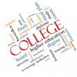 Stock Photo: College Word Cloud Concept Angled