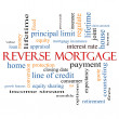 Stock Photo: Reverse Mortgage Word Cloud Concept