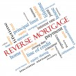 Foto Stock: Reverse Mortgage Word Cloud Concept Angled