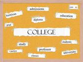 Concepto de Universidad corkboard palabra — Foto de Stock
