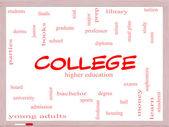College Word Cloud Concept on a Whiteboard — Stock Photo