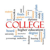College Word Cloud Concept — Stock Photo