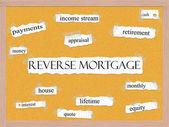Reverse Mortgage Corkboard Word Concept — Stock Photo