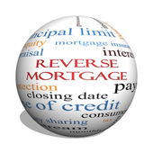 Reverse Mortgage 3D sphere Word Cloud Concept — Stock Photo