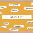 Annuity Corkboard Word Concept — Stock Photo #39032223
