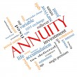 Stock Photo: Annuity Word Cloud Concept Angled