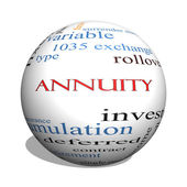 Annuity 3D sphere Word Cloud Concept — Stock Photo