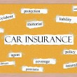 Car Insurance Corkboard Word Concept — Stock Photo #39211757