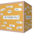 Car Insurance 3D cube Corkboard Word Concept — Stock Photo #39211769