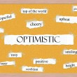 Stock Photo: Optimistic Corkboard Word Concept