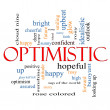 Optimistic Word Cloud Concept — Stock Photo #39212219