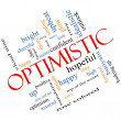Optimistic Word Cloud Concept Angled — Stock Photo #39212241