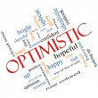 Optimistic Word Cloud Concept Angled — Stock Photo