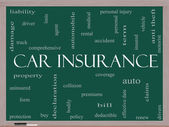 Car Insurance Word Cloud Concept on a Blackboard — Stock Photo