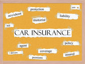 Car Insurance Corkboard Word Concept — Stock Photo