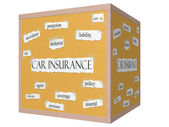 Car Insurance 3D cube Corkboard Word Concept — Stock Photo