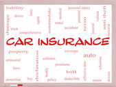 Car Insurance Word Cloud Concept on a Whiteboard — Stock Photo