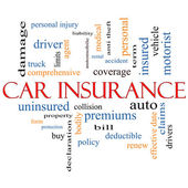 Car Insurance Word Cloud Concept — Stock Photo