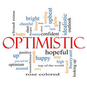 Optimistic Word Cloud Concept — Stock Photo