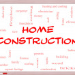Home Construction Word Cloud Concept on Whiteboard — Stock Photo #39353389