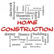 Home Construction Word Cloud Concept in red caps — Stock Photo #39353459
