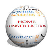 Home Construction 3D sphere Word Cloud Concept — Stock Photo