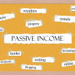 Stock Photo: Passive Income Corkboard Word Concept