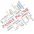 Stock Photo: Passive Income Word Cloud Concept angled