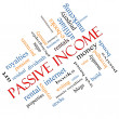Passive Income Word Cloud Concept angled — Stock Photo #39487835