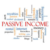 Passive Income Word Cloud Concept — Stock Photo